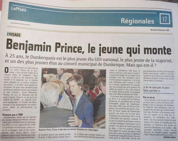 Benjamin Prince, le jeune qui monte LP 16 décembre 2015.jpg